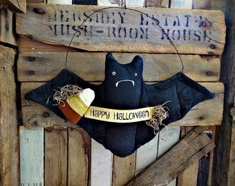 Primitive Bat | Halloween Decor | Bat decoration | Folk Art Bat