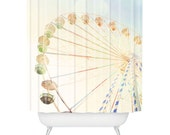Shower Curtain ~ Dreamy Circus Ferris Wheel ~ kids bath curtain, new home gift idea, dreamy pretty ferris wheel, trendy kids room decor