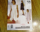 DESIGNER Betty Jackson A-Line Tent Dress / Greek Goddess Summer Gown - Size (12 - 14 - 16) - Sewing Pattern Vogue 1606