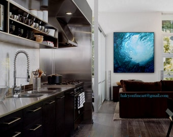 "Large Wall Art Original Underwater Painting "" RISE ""   by Holly Anderson Ships Free within the USA"