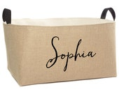 Personalized Jute Storage Basket, X-Large
