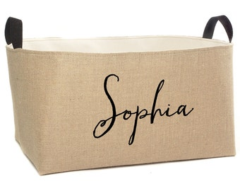 Sophia Personalized Jute Storage Basket, X-Large