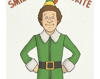 Elf - Will Ferrell - Illustration Art Print