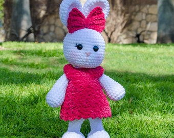 Olivia the Bunny Amigurumi - PDF Crochet Pattern - Instant Download - Amigurumi crochet Cuddy Stuff Plush