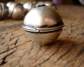 Moroccan  tarnished plain large round bead