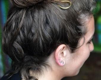 Hammered Silver Hair Stick. Shiny Hair pin