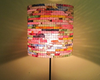 Lamp Floor Lamp Handmade Lampshade Table Lamp Lampwork Drum Lamp Shade Lampada Coffee Filter Art Unique Lamp Shade