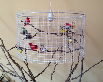 Shipping Worldwide - Birdcage Pendant Light Chandelier Lamp Bird Lampshade Lampada - Made in US