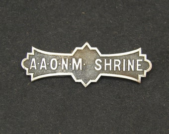 AAONM SHRINE Ancient Arabic Order of the Nobles of the Mystic Shrine Shriners North America Lapel Pin Medal
