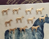 Tiny Thoroughbred Horses (3 pc)