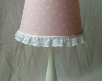 COUPON CODE!!! Pink and White Polka Dot Lamp Shade