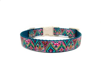 Moroccan Dog Collar, Unique Dog Collar, Plastic Buckle*
