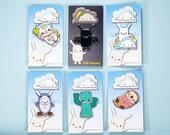 Pin enamel | Sale Price | Lapel pin enamel pin | Otter Cat Cactus Shark Bunny Rainbow Cloud Bat Platypus Ghost Pig