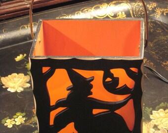 Halloween Witch Wood Luminary
