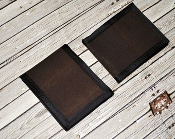 Waxed Canvas Wallet // Chocolate Brown Wallet - Everyday Carry Wallet - Gift for Him - Father's Day Gift - Made to Order