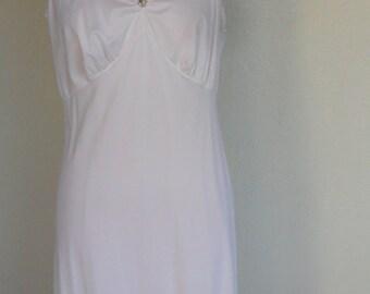 Vintage Full Slip Maxi White Size 40 Wedding Bridal