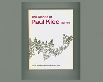 The Diaries of Paul Klee, 1898 - 1918, Edited and with an Introduction by Felix Klee, Modern Art 1968, Vintage Book in Paperback Format