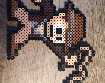 Indiana Jones Perler Fuser Beads Keychain Lanyard Ornament Magnet