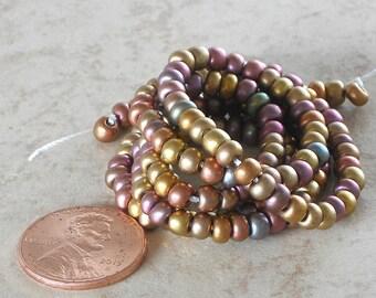 24 Grams 6/0 Czech Preciosa Ornela Seed Beads Rocailles E Beads Silk Metallic Golds Bronze Purples Greens Iris Seed Beads (CSBSG-022116)