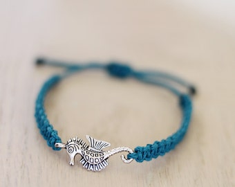 Seahorse Bracelet - Hemp Bracelet - Hemp Jewelry