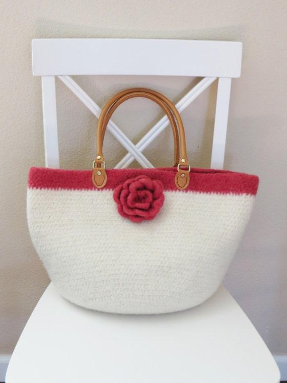Easy Felted Crochet Bag Pattern : Crochet Purse Pattern - Crochet Felted Purse - Crochet Bag ...