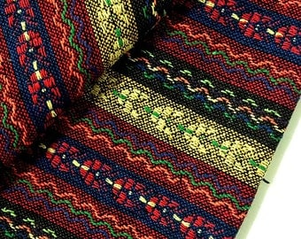 Thai Woven Cotton Fabric Tribal Fabric Native Fabric by the yard Ethnic fabric Aztec fabric Craft Supplies Woven Textile 1/2 yard (WF65)