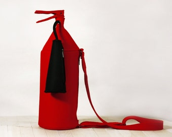 Fire Extinguisher Red Felt Bag