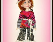 "Duda ""Hodgepodge Hip'"" - Handmade Doll Clothes for 19 inch Trinket Box Kids BJD by Kimberley Arnold"