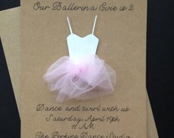 Ballerina Invitation - Birthday Invitation - Baby Shower Invitation