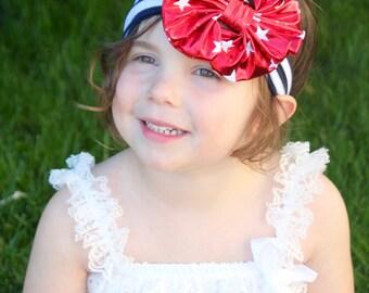 4th of July Headband- Headwrap - Stars and Stripes Headband