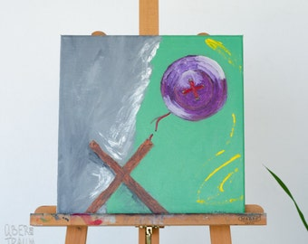 Abstract Oil Painting - 'Torture' - contemporary art minimalist painting