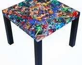 Justice League Comic Collage Table