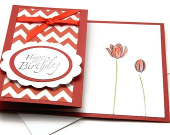 Bday Cards For Her - Flower Card For Mom - Happy Birthday Her - Cards For Girlfriend - Aunts Birthday Card - Bday Card Wife - Greetings Card
