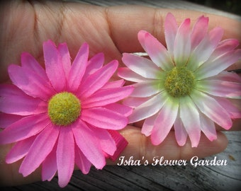 Pink Daisy hair clip, daisy hair accessories, daisy flower hair barrette
