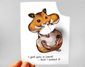 Hamster Card, Greeting Card, Personalized Card, Hungry Pet Card, Funny Card, I Eated It, Custom Card, Animal Card