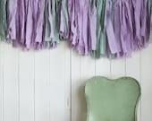SALE. Lavender and Celadon Mini Fabric Garland. Fabric Banner. Children's Room Decor. Baby Shower Garland. Crib Wall Hanging. Modern Nursery