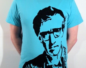 Woody Allen ICON T-Shirt - Cyan, Size M