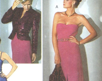 Vintage disco dress & jacket pattern -- Burda 9157