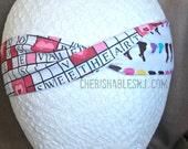 Valentine's Day Headband - Easter Candy Reversible Headband - Elastic Band - Holiday - Teacher Gift - Crossword - OOAK - Ready to Ship