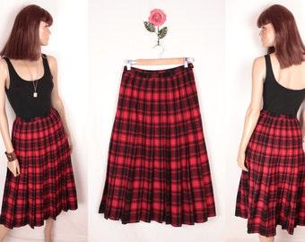 vintage Pendleton wool skirt // knife pleats