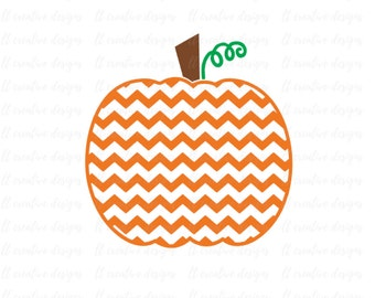 Chevron Pumpkin SVG, Pumpkin SVG, Fall SVG, Thanksgiving Svg, Halloween Svg, Svg Files, Cricut Cut Files, Silhouette Cut Files