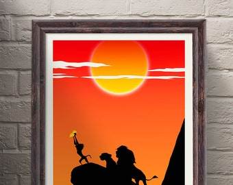 Minimalist Poster - The Lion King Movie Poster, Film Print, Movie Print, Film Poster Art Print Home Decor Wall Art