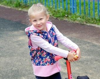 Boy Girl DRAGON Vest Children pattern Pdf sewing pattern, Hooded Knit Jersey Fleece or Woven, Toddler, 3 4 5 6 7 8 9 10 yrs Instant Download