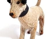 Antique Mohair Jack Russell Terrier