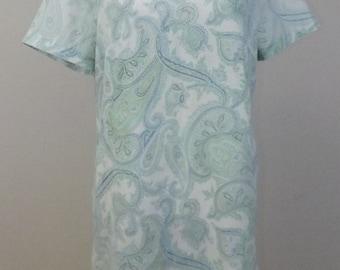 Cute Vintage Paisley Dress - Pleated Drop Waist - Flapper Style