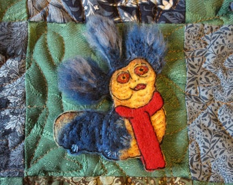Labyrinth - Worm - Patch / pin / brooch embroidered - Jim Henson