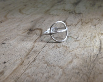 TYYNI Ring - sterling silver comfortable round rustic minimalist everyday ring