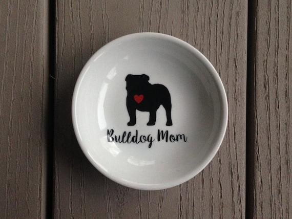 English Bulldog | Ring Dish | Bulldog Mom | Engagement Gift | Ring Holder
