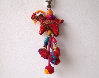 Thai PomPom Bead Charm Bohemian Hmong Embroidered Hobo Pom Pom Accessoires