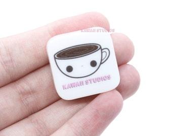 Kawaii Coffee Cup Rubber Stamp - Scrapbooking, Pen Palling, Planning